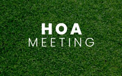 HOA ANNUAL MEETING